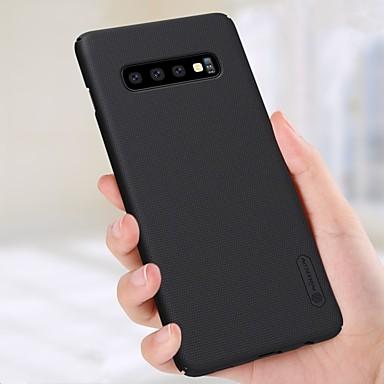 رخيصةأون حافظات / جرابات هواتف جالكسي S-غطاء من أجل Samsung Galaxy Galaxy S10 / Galaxy S10 Plus / Galaxy S10 E ضد الصدمات / مثلج غطاء خلفي لون سادة قاسي الكمبيوتر الشخصي