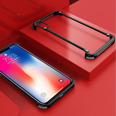voordelige iPhone-hoesjes-hoesje Voor Apple iPhone XS Max Schokbestendig / Mat / DHZ Bumper Effen Hard Aluminium