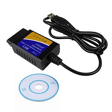 Недорогие OBD-ziqiao elm327 usb v1.5 obd2 автомобильный диагностический интерфейс сканер elm 327 v1.5 obdii диагностический инструмент