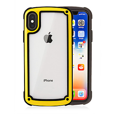 premium selection 5bf20 dd9a4 [$8.99] Case For Apple iPhone XS / iPhone XR / iPhone XS Max Shockproof /  Transparent Back Cover Solid Colored Soft TPU / PC