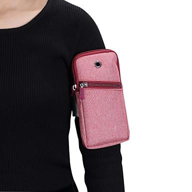 Недорогие Чехлы и кейсы для Lenovo-Кейс для Назначение Blackberry / Apple / SSamsung Galaxy Универсальный Спортивныеповязки С ремешком на руку / Мешочек Однотонный Мягкий холст