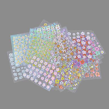 30 pcs ملصقات الأظافر 3D وردة فن الأظافر تجميل الأظافر والقدمين محبوب أنيقة & حديثة / موضة مناسب للبس اليومي / PVC / ستيكرز أظافر 3D