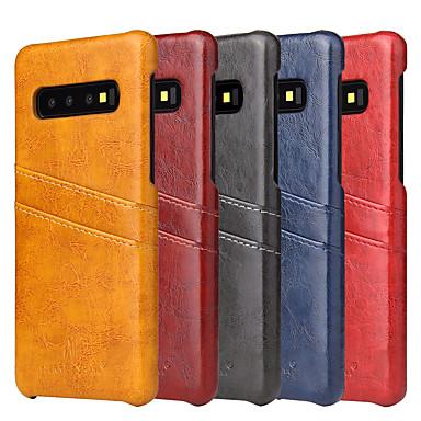 voordelige Galaxy S-serie hoesjes / covers-hoesje Voor Samsung Galaxy S9 / S9 Plus / S8 Plus Kaarthouder / Schokbestendig Achterkant Marmer Hard PU-nahka