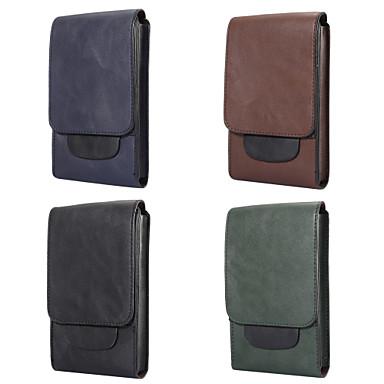 Недорогие Чехлы и кейсы для Nokia-Кейс для Назначение Blackberry / Apple / SSamsung Galaxy Универсальный Бумажник для карт Поясные сумки / Мешочек Однотонный Мягкий Кожа PU