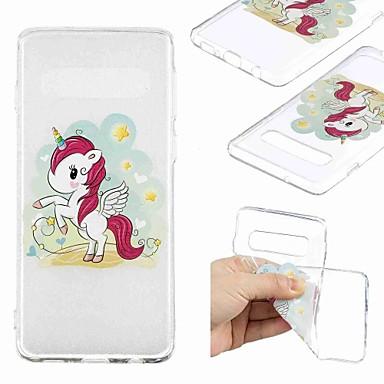 voordelige Galaxy S-serie hoesjes / covers-hoesje Voor Samsung Galaxy S9 / S9 Plus / S8 Plus Transparant / Patroon Achterkant Eenhoorn Zacht TPU