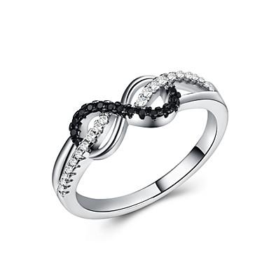 olcso Karikagyűrűk-Női Band Ring Kocka cirkónia 1db Fehér Réz Platina bevonat Geometric Shape Stílusos Európai Romantikus Esküvő Ajándék Ékszerek Klasszikus Szöveg Menő