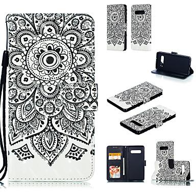 voordelige Galaxy S-serie hoesjes / covers-hoesje Voor Samsung Galaxy S9 / S9 Plus / Galaxy S10 Portemonnee / Kaarthouder / met standaard Volledig hoesje Mandala Hard PU-nahka