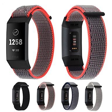 Недорогие Аксессуары для смарт-часов-Ремешок для часов для Fitbit Charge 3 Fitbit Спортивный ремешок / Современная застежка Нейлон Повязка на запястье