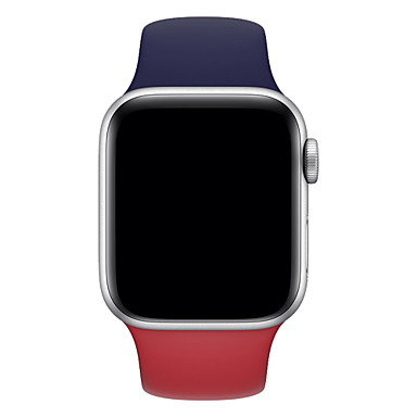 abordables Correas para Apple Watch-Ver Banda para Apple Watch Series 5/4/3/2/1 Apple Hebilla Clásica Silicona Correa de Muñeca