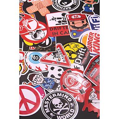 60 قطع مختلطة مضحك ماركة diy ملصقات مثير لل ديكور المنزل ملصقا صائق الثلاجة التزلج خربش سيارة دراجة نارية