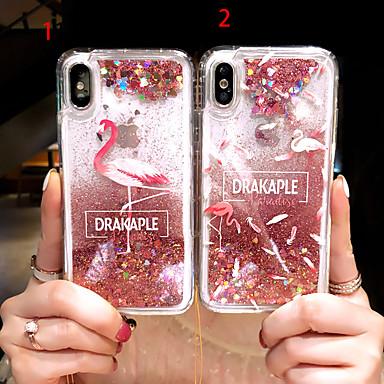 voordelige iPhone-hoesjes-hoesje Voor Apple iPhone XS / iPhone XR / iPhone XS Max Stromende vloeistof Achterkant dier / Glitterglans Hard PC