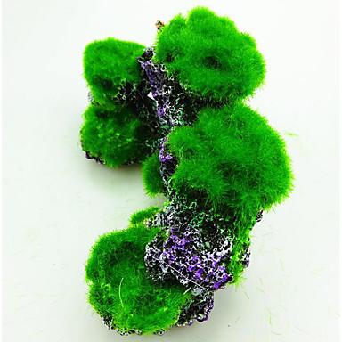 ieftine Accesorii Acvariu & Pește-Acvariu Decorațiune pentru Acvariu Ornamente pietre Verde Impermeabil Portabil Reșină 1 16.5*805*8 cm