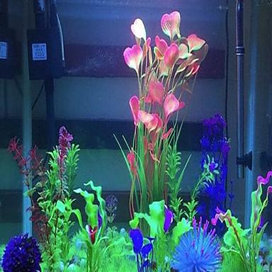 tanie Akwaria i akcesoria dla rybek-Akwarium Dekoracja akwarium Wodoodporny Roślina wodna Różowy Przenośny Dekoracja PVC (PCV) 2 40 cm