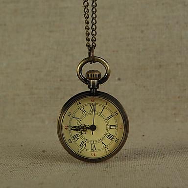 رخيصةأون ساعات الرجال-رجالي ساعة جيب كوارتز برونز ساعة كاجوال كوول مماثل عتيق الحد الأدنى - برونز