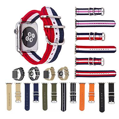 Недорогие Ремешки для Apple Watch-Ремешок для часов для Серия Apple Watch 5/4/3/2/1 Apple Спортивный ремешок Нейлон Повязка на запястье