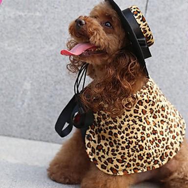 povoljno Odjeća za psa i dodaci-Psi Kaputi Zima Odjeća za psa Leopard Obala Svijetlo zelena Kostim korgi Bigl Buldog Terilen Na točkice Leopard Maskirni Grijači Wrap Included S M L