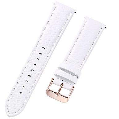 رخيصةأون قيود ساعات-جلد أصلي / جلد / شعر العجل حزام حزام إلى الأبيض 17CM / 6.69 بوصة / 18cm / 7 Inches / 19cm / 7.48 Inches 1cm / 0.39 Inches / 1.2cm / 0.47 Inches / 1.3cm / 0.5 Inches