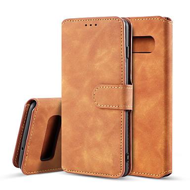 levne Galaxy S pouzdra / obaly-Carcasă Pro Samsung Galaxy Galaxy S10 Peněženka / Nárazuvzdorné / Flip Celý kryt Jednobarevné Pevné PU kůže