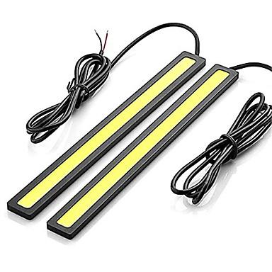 voordelige Autoverlichting overdag-2pcs Draad verbinding Automatisch Lampen 12 W COB 600 lm LED Dagrijverlichting Voor Universeel Alle jaren