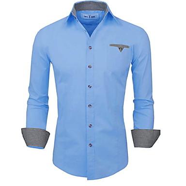 povoljno Muška moda-Veličina EU / SAD Majica Muškarci Jednobojni Slim, Print Obala