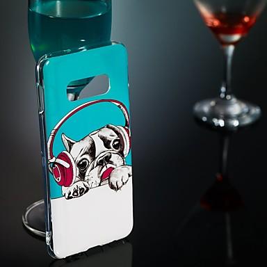 رخيصةأون حافظات / جرابات هواتف جالكسي S-غطاء من أجل Samsung Galaxy S9 / S9 Plus / S8 Plus يضوي ليلاً / نموذج غطاء خلفي كلب ناعم TPU