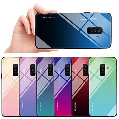 غطاء من أجل Samsung Galaxy A6 (2018) / A8 2018 ضد الصدمات / ضد الغبار غطاء خلفي لون متغاير قاسي TPU / زجاج مقوى