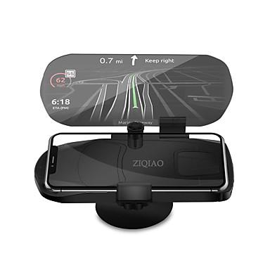 Недорогие Приборы для проекции на лобовое стекло-Ziqiao универсальный мобильный телефон автомобильный держатель проектор HUD Head Up Display 7 дюймов для смарт-мобильного телефона