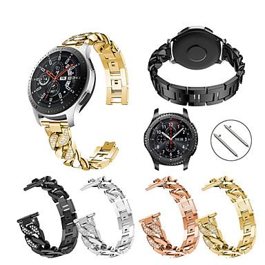 Недорогие Аксессуары для смарт-часов-Ремешок для часов для Gear S3 Frontier / Gear S3 Classic / Samsung Galaxy Watch 46 Samsung Galaxy Спортивный ремешок Нержавеющая сталь Повязка на запястье