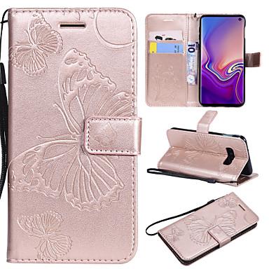 voordelige Galaxy S-serie hoesjes / covers-hoesje Voor Samsung Galaxy S9 / S9 Plus / S8 Plus Kaarthouder / met standaard / Flip Volledig hoesje Vlinder Hard PU-nahka
