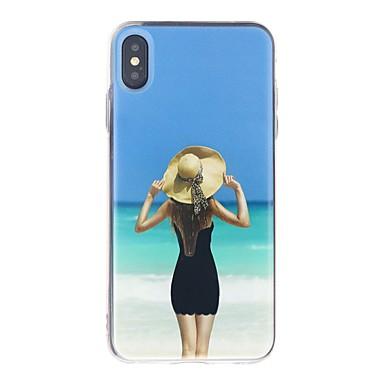 Χαμηλού Κόστους Noutăți-tok Για Apple iPhone XS / iPhone XR / iPhone XS Max Ανθεκτική σε πτώσεις / Ρέον υγρό / Εξαιρετικά λεπτή Πίσω Κάλυμμα Σέξι κυρία Μαλακή TPU