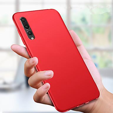 Недорогие Чехлы и чехлы-Кейс для Назначение Huawei Huawei P20 / Huawei P20 Pro / Huawei P20 lite Ультратонкий / Матовое Кейс на заднюю панель Однотонный Мягкий ТПУ / P10 Lite / P10