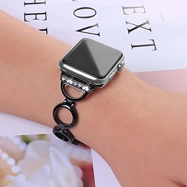Недорогие Аксессуары для смарт-часов-Ремешок для часов для Серия Apple Watch 5/4/3/2/1 Apple Классическая застежка Нержавеющая сталь Повязка на запястье