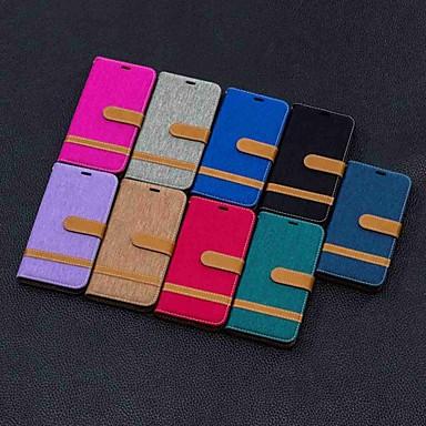 Недорогие Чехлы и кейсы для Galaxy S-Кейс для Назначение SSamsung Galaxy S9 / S9 Plus / S8 Plus Кошелек / Бумажник для карт / со стендом Чехол Плитка Твердый текстильный