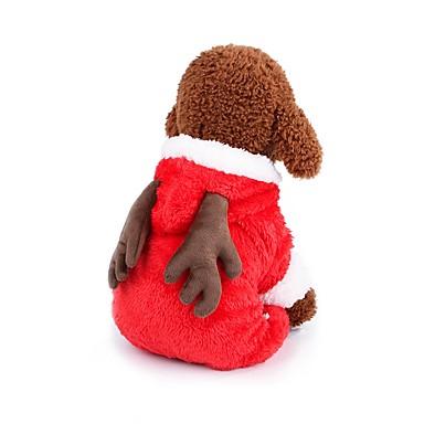 رخيصةأون ملابس وإكسسوارات الكلاب-كلاب ازياء تنكرية المعاطف ملابس الشتاء ملابس الكلاب بني أحمر كوستيوم فصيل كورجي كلب صيد كلب البلدغ صوف مخمل 100% لون سادة شخصية دافئ / تدفيئ عيد الميلاد XS S M L XL