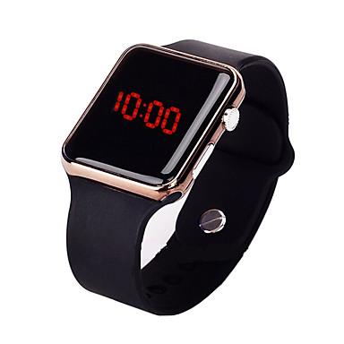 رخيصةأون ساعات الرجال-رجالي ساعة رياضية رقمي مطاط أسود 30 m مقاوم للماء إبداعي تصميم جديد رقمي كاجوال موضة - أسود ذهبي روزي أرجواني / LCD