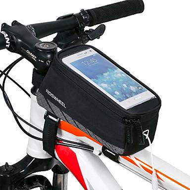 رخيصةأون حقائب الدراجة-ROSWHEEL حقيبة الهاتف الخليوي حقيبة دراجة الإطار 5.5 بوصة الشاشات التي تعمل باللمس مقاوم للماء ركوب الدراجة إلى iPhone 8 Plus / 7 Plus / 6S Plus / 6 Plus iPhone X iPhone XR أسود أخضر / الدراجة