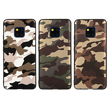 voordelige Huawei Mate hoesjes / covers-hoesje Voor Huawei Honor 9 / Mate 10 lite / Huawei Mate 20 lite Mat / Patroon Achterkant Camouflage Kleur Zacht TPU