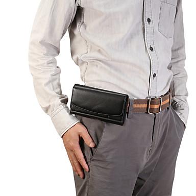 Недорогие Универсальные чехлы и сумочки-4,8 / 5,2 / 6 / 6,9 дюйма для универсального держателя карты / поясная сумка сплошного цвета из искусственной кожи