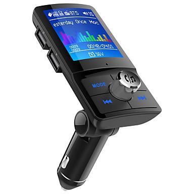 Недорогие Bluetooth гарнитуры для авто-Автомобильный FM-передатчик bc45 с 1,8-дюймовым цветным экраном, беспроводной радиоприемник, аудиоадаптер, автомобильный комплект, двойное зарядное устройство USB, MP3-плеер, комплект громкой связи