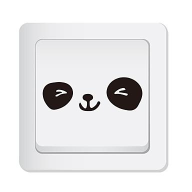 olcso Otthon dekoráció-Villanykapcsoló ragasztók - Állati falimatrica Állatok Nappali szoba / Hálószoba / Konyha