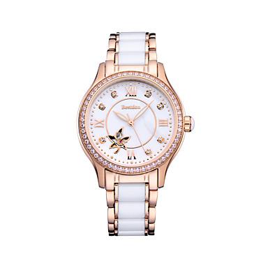 7d5974e7d4c6 Best don Mujer Reloj de Pulsera El reloj mecánico Relojes de Oro Japonés  Cuerda Automática Cerámica Blanco   Oro Rosa 50 m Resistente al Agua  Noctilucente ...