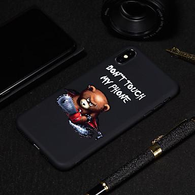 Недорогие Кейсы для iPhone-Кейс для Назначение Apple iPhone XS / iPhone XR / iPhone XS Max Матовое / С узором Кейс на заднюю панель Слова / выражения / Животное Мягкий ТПУ