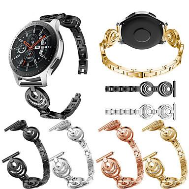 voordelige Smartwatch-accessoires-Horlogeband voor Gear S3 Frontier / Gear S3 Classic / Samsung Galaxy Watch 46 Samsung Galaxy Sportband / Sieradenontwerp Roestvrij staal Polsband