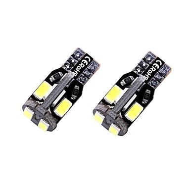 olcso Autó világítás-2pcs T10 / W5W Autó Izzók 1.35 W SMD 5730 10 LED Rendszámtábla világítás / Belső világítás / Oldalsó jelzőfények Kompatibilitás Univerzalno Minden évjárat