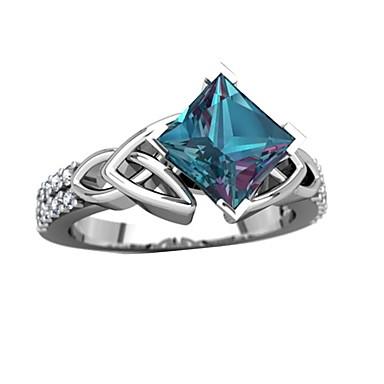 رخيصةأون خواتم-نسائي خاتم 1PC أخضر حجر الراين سبيكة هدية مناسب للبس اليومي مجوهرات محبوب