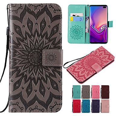 voordelige Galaxy S-serie hoesjes / covers-hoesje Voor Samsung Galaxy S9 / S9 Plus / S8 Plus Portemonnee / Kaarthouder / met standaard Volledig hoesje Mandala Hard PU-nahka