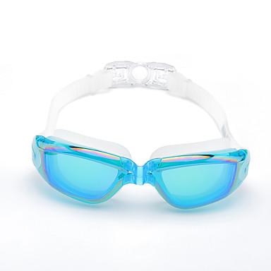 olcso Úszószemüvegek-Úszás Goggles Vízálló Páramentesítő Állítható méret UV-védő Vényköteles Tükrözött Silica Gel PC Fehér Szürke Fekete Rózsaszín Szürke Fekete