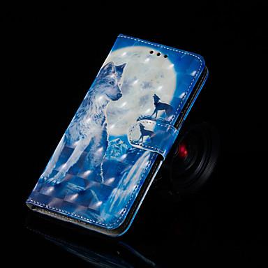 voordelige Huawei Y-serie hoesjes / covers-hoesje Voor Huawei Huawei Nova 3i / Huawei Honor 9 Lite / Huawei Honor 8X Portemonnee / Kaarthouder / met standaard Volledig hoesje dier Hard PU-nahka