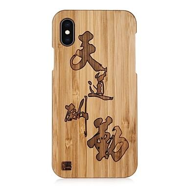 voordelige iPhone X hoesjes-hoesje Voor Apple iPhone XS / iPhone XR / iPhone XS Max Reliëfopdruk Achterkant Woord / tekst Hard Puinen