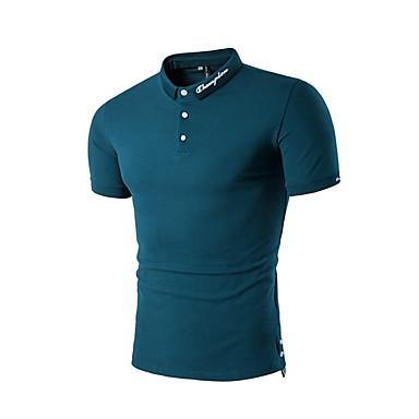 رخيصةأون بولو رجالي-رجالي قطن بولو ستايل, لون سادة قبعة القميص